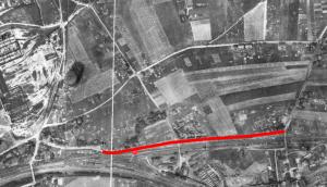 Bebauung Auf der Prinz, Luftbild 1926 (Foto: Geobasisdaten der Kommunen und des Landes NRW © Geobasis NRW 2016)