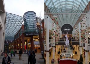 Einkaufszentrum, Telekom-Block und BVZ