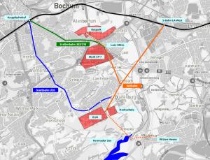 Seilbahn in Verbindung mit 302/310 - Entlastungslinie für die U35