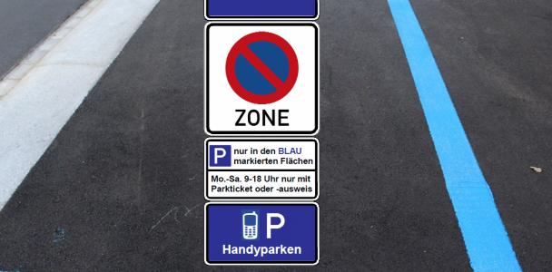 Handyparken und Blaue (Park-)Zonen