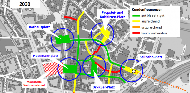 Fünf besondere Plätze für die Innenstadt