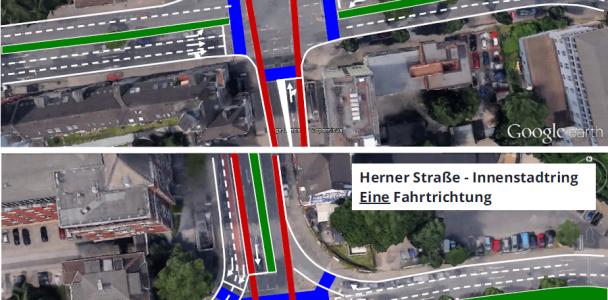 Neuplanung des Innenstadtrings - schnellere Fahrtzeiten und Radweg