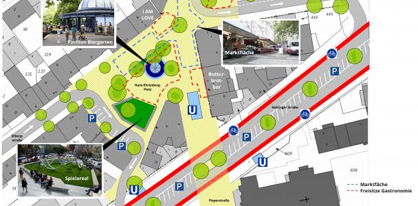 Neugestaltung des Hans-Ehrenberg-Platzes