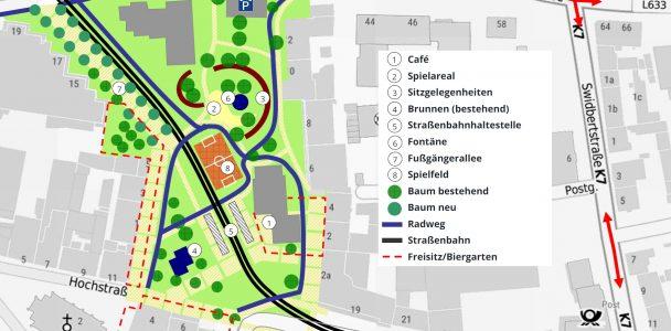 Aus dem August-Bebel-Platz einen Park machen