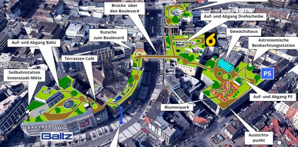 Innenstadt-Dachpark - Aufbruch in die 3. Stadtdimension