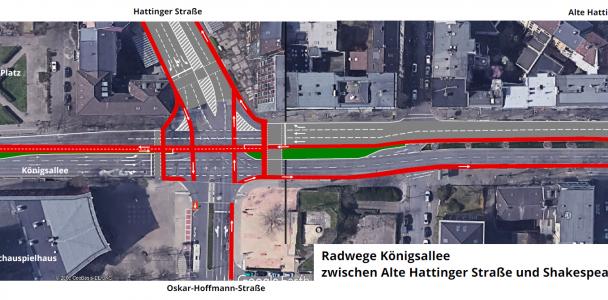 Sichere Radwege für die Königsallee