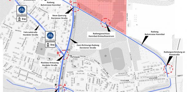 Verkehrs- und Radwegekonzept für den Norden von Hofstede