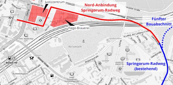 Springorum-Radweg an die City anbinden