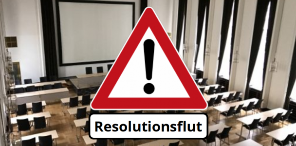 Konkrete Politik statt Resolutionen