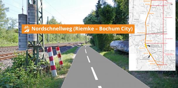 Ein kreuzungsfreier Radweg von Riemke in die City