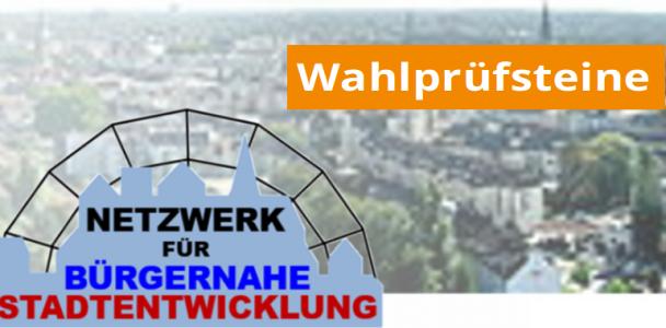 Wahlprüfsteine - Bündnis für bürgernahe Stadtentwicklung