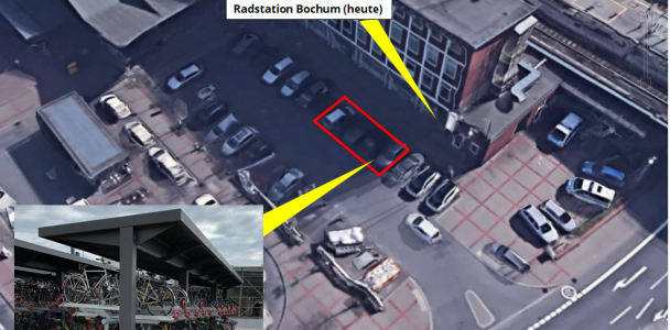 Eine Idee für mehr Radabstellplätze für die überfüllte Radstation am Hauptbahnhof