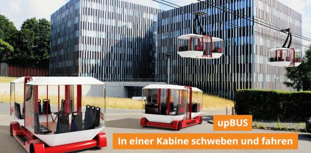upBUS - Mit schwebenden Seilbahnbussen direkt vor die Haustür fahren