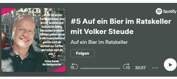 Im Ratskeller mit Volker Steude - Podcast von youngperspectives.ruhr