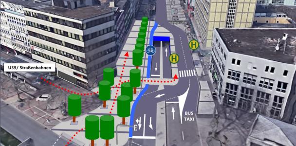 Umgestaltung des Zugangs zum Bongard-Boulevard