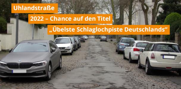 """Uhlandstraße wird wieder nicht """"Übelste Schlaglochpiste Deutschlands"""