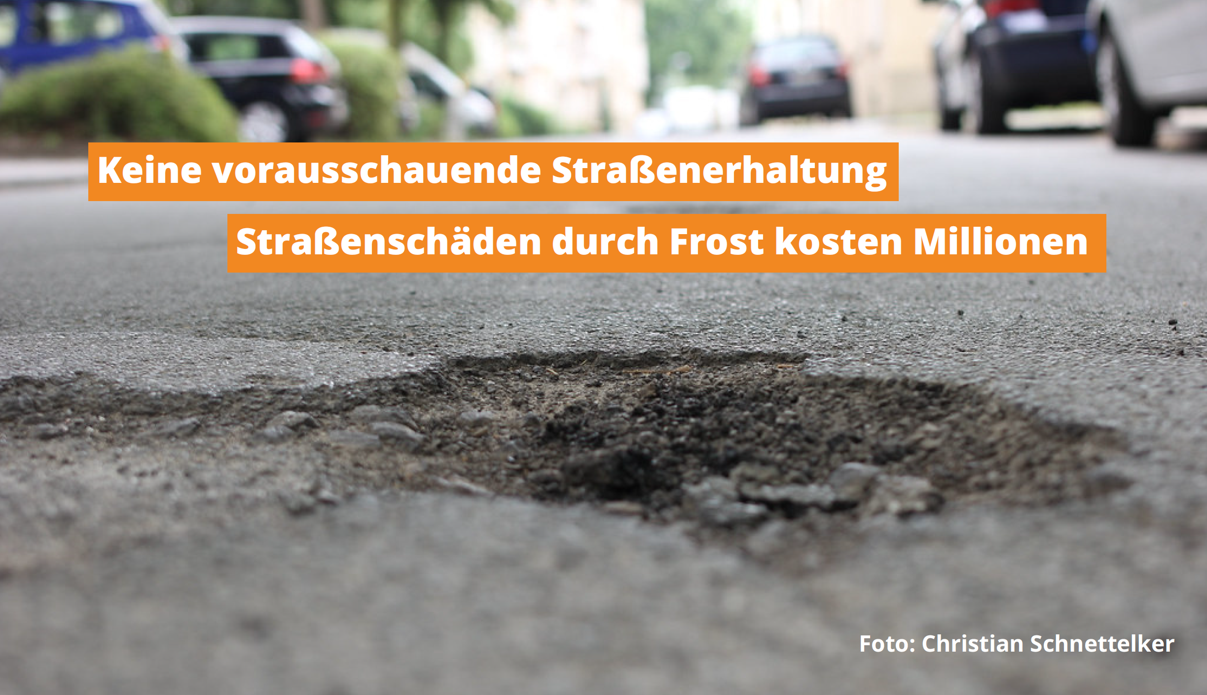 Straßenschäden durch Frost kosten Bochum Millionen