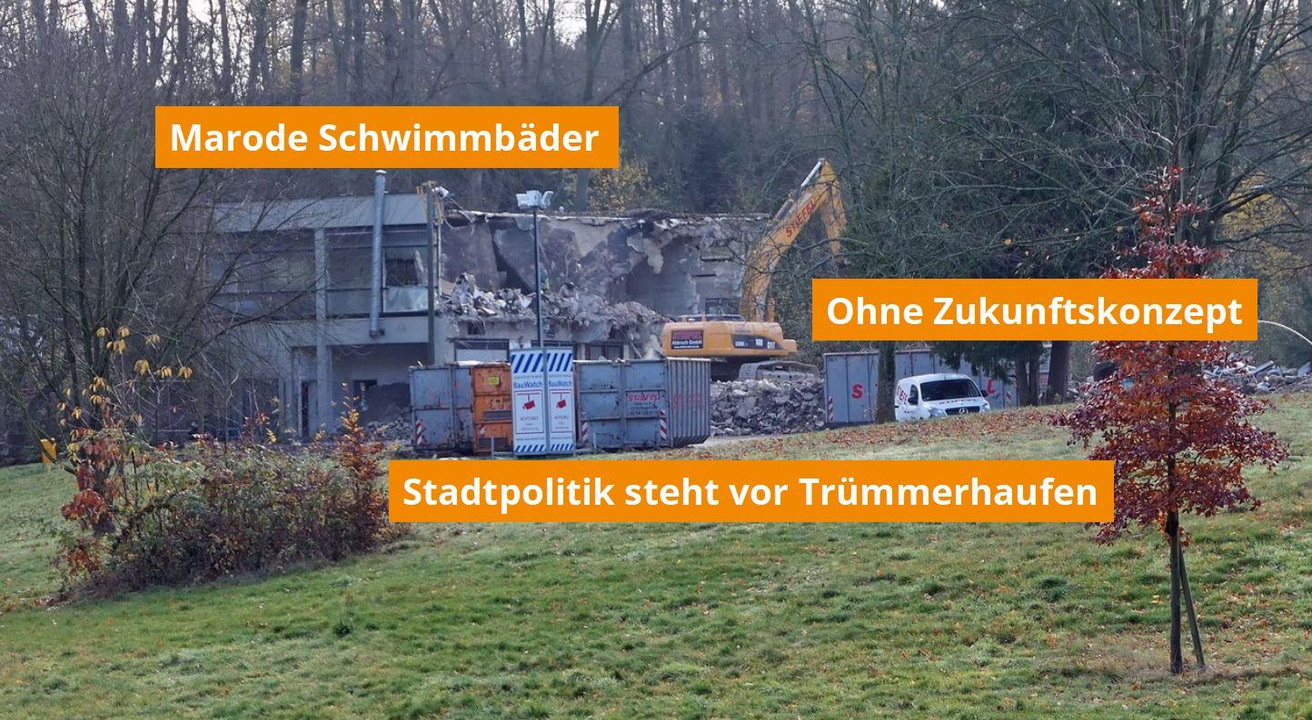 Bochumer Bäder - Stadt steht vor Trümmerhaufen