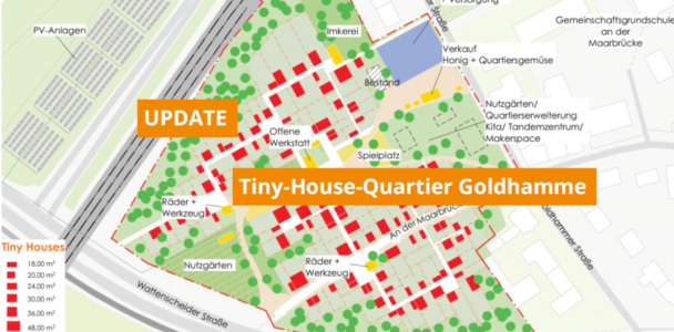 Tiny-House-Quartier Goldhamme findet großen Anklang
