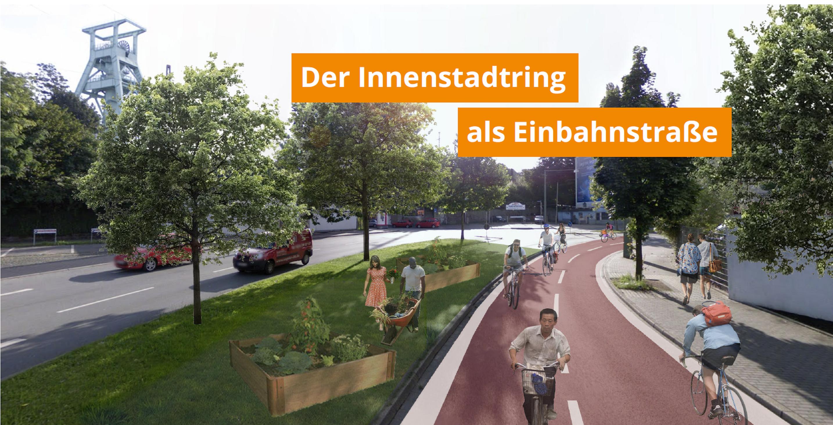 Der Bochumer Innenstadtring als Einbahnstraße - Detaillierter Vorschlag