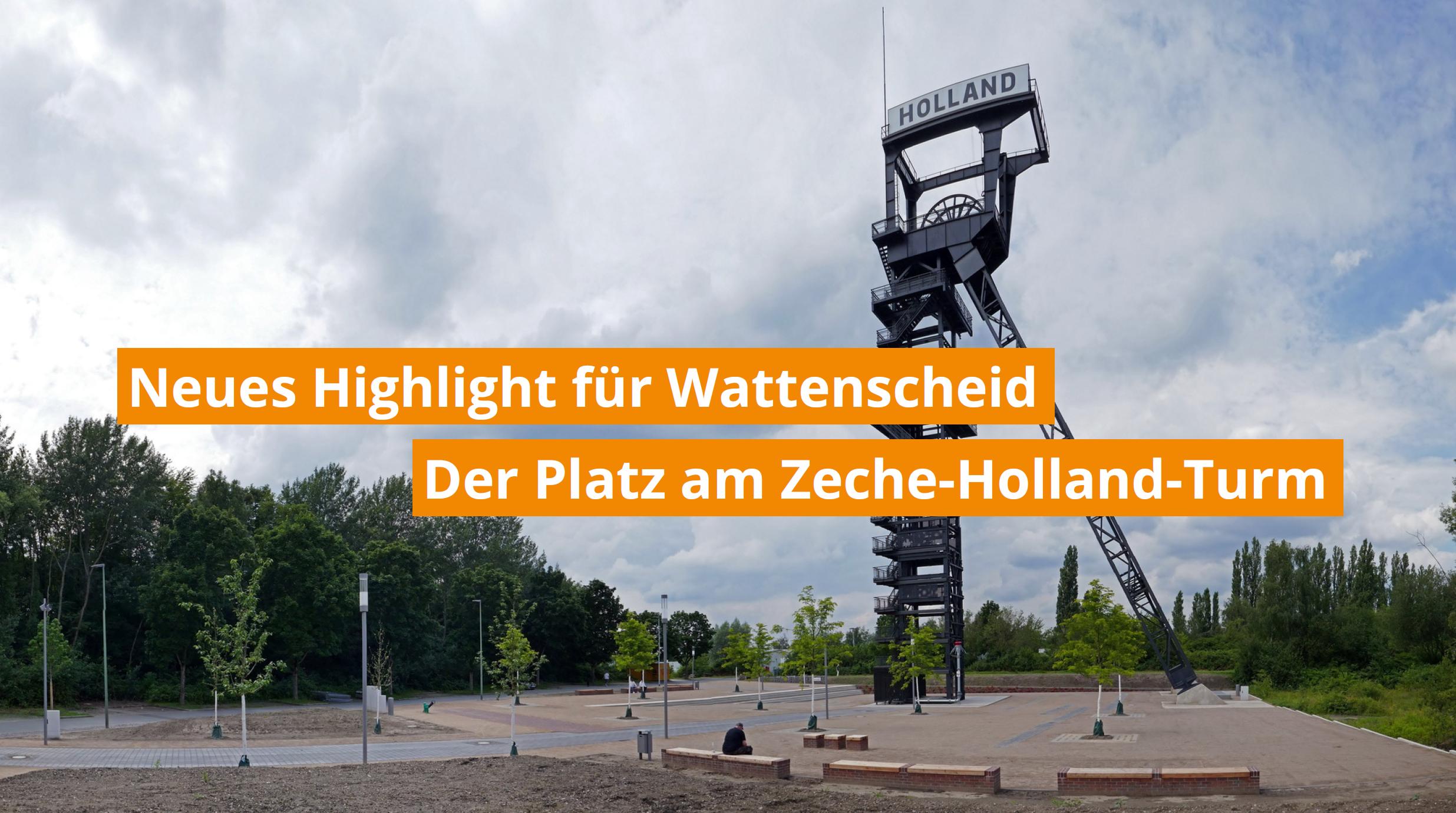 Platz am Zeche-Holland-Turm ist fertig