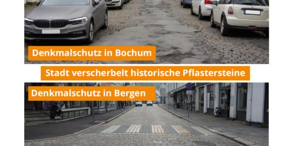 Denkmalschutz verkehrt - Stadt verschenkt historische Pflastersteine der Uhlandstraße